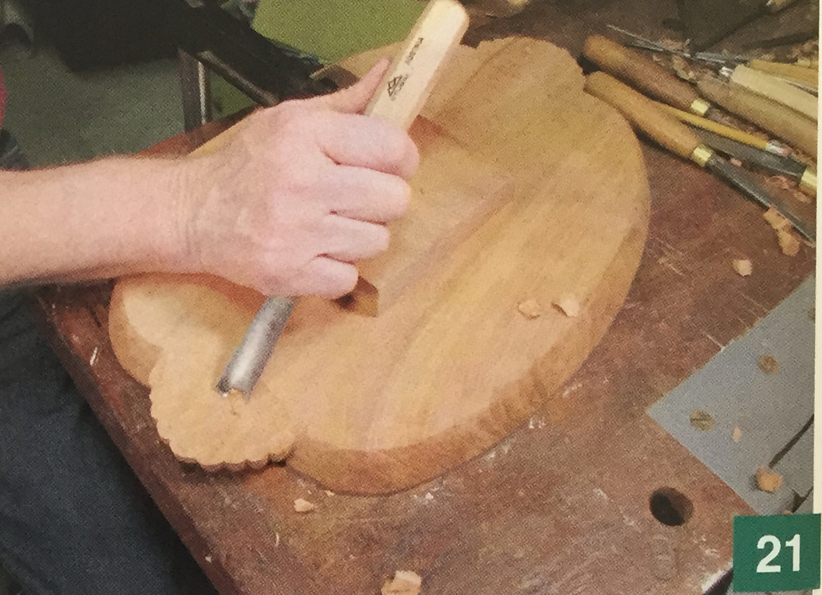 Cherry Tray Carving Step 21