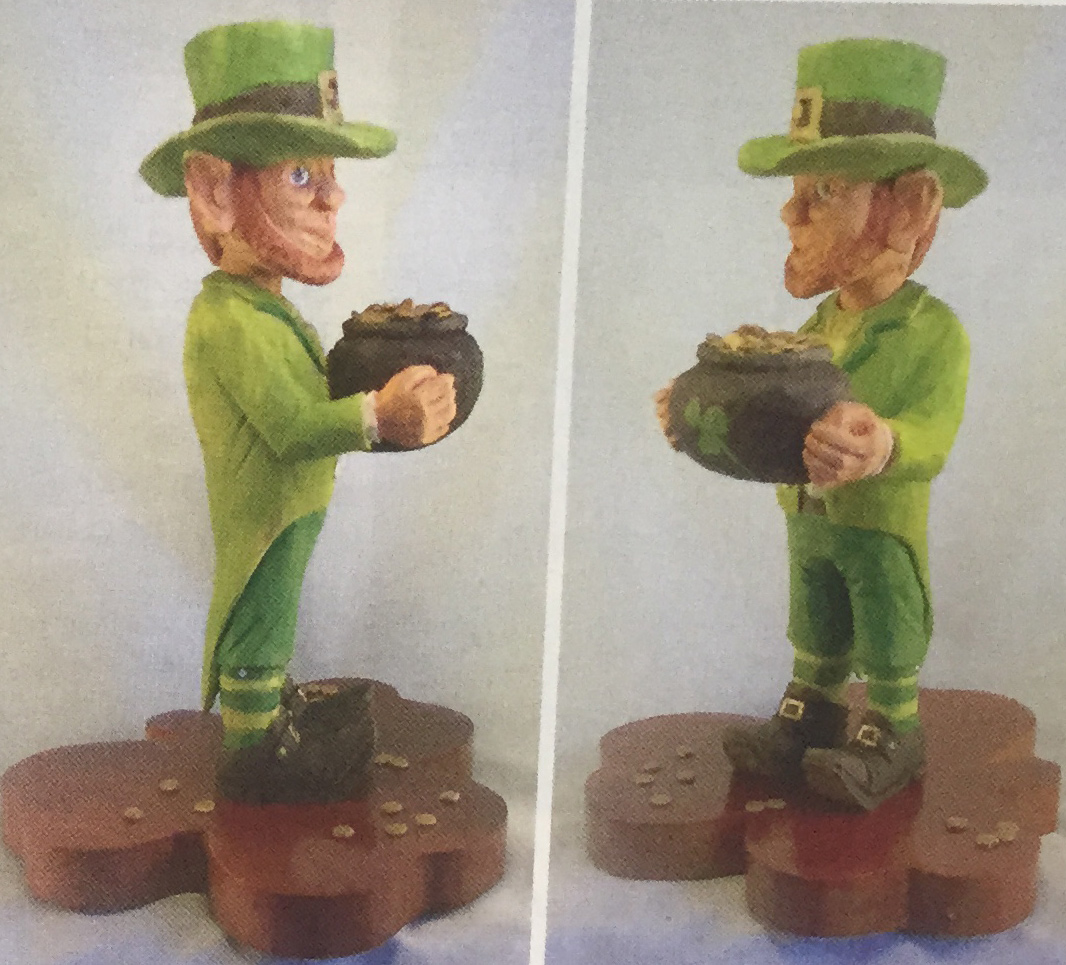 The Lucky Leprechaun Carving