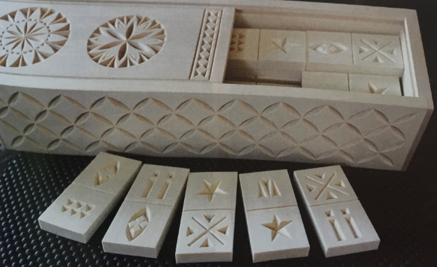 Chip-Carved Domino Set